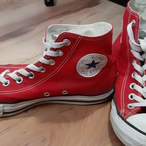 Women's Bright Red Converse High Tops